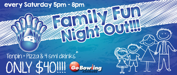 Come along to our Family Fun Night Out... Great deals on NOW!