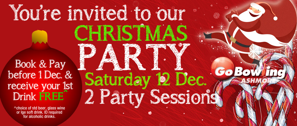 Have your staff Christmas Party with us on 12 December!