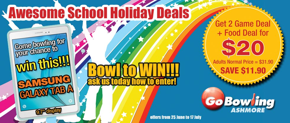 Get the $20 deal with 2 games of tenpin and lunch