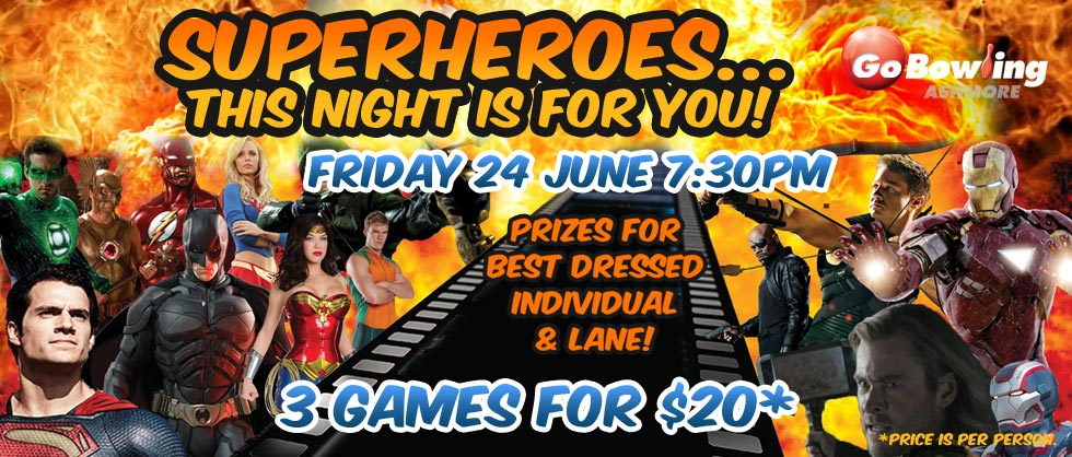 Come dressed in your superhero costume, prizes for best dressed!