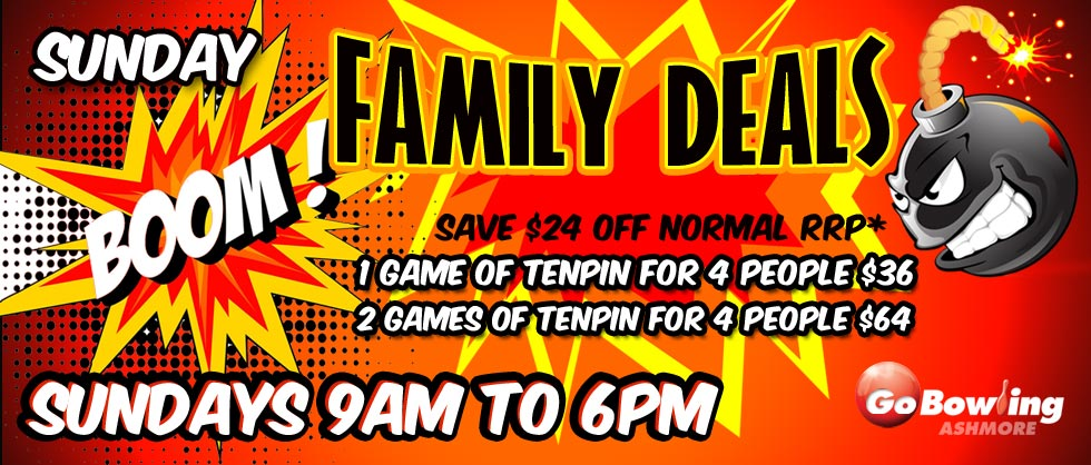 Join in the FUN!!! Check out our awesome family deals at Go Bowling Ashmore